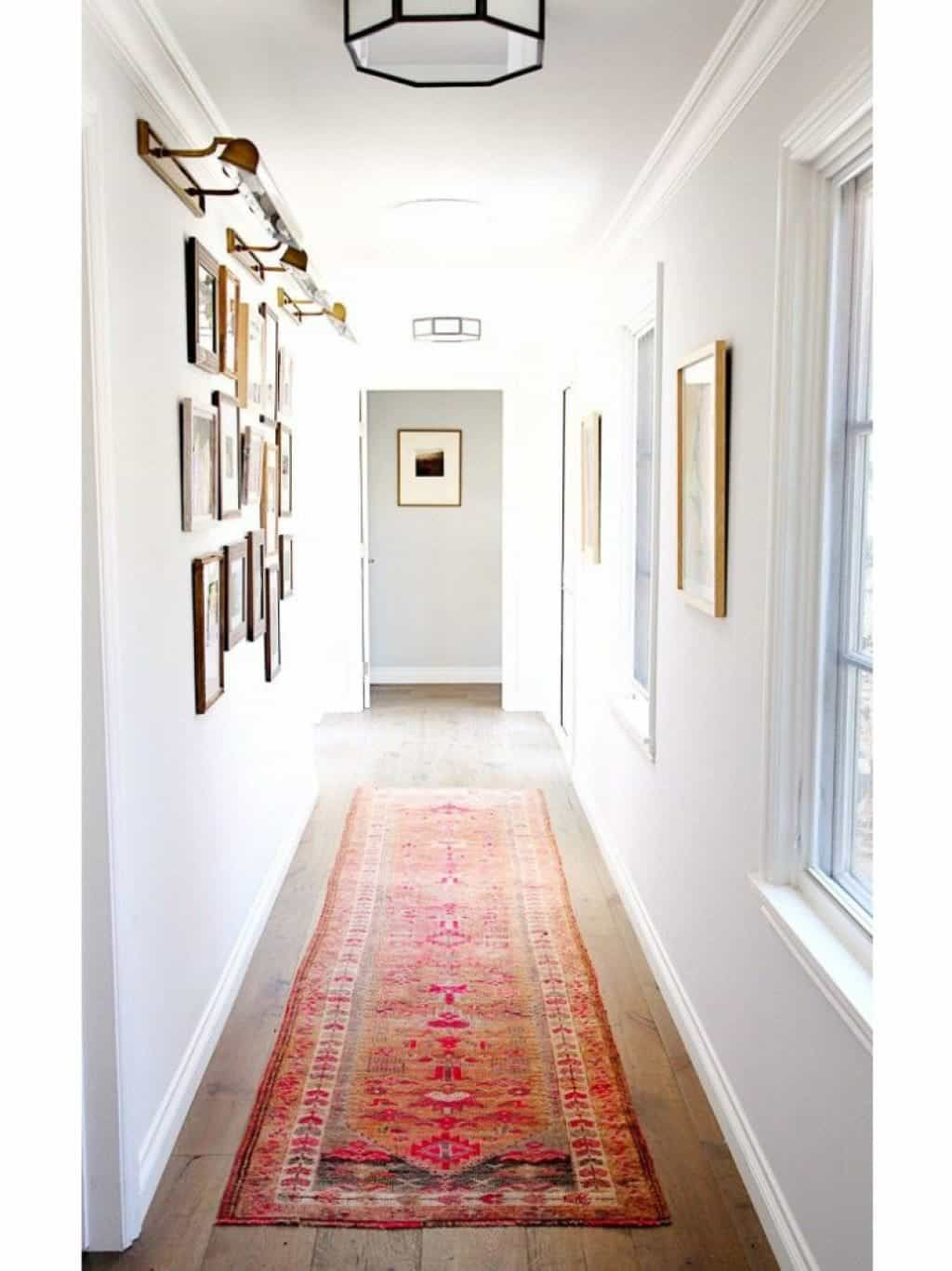 Decorating Ideas For Narrow Hallway Modern Room White Paint