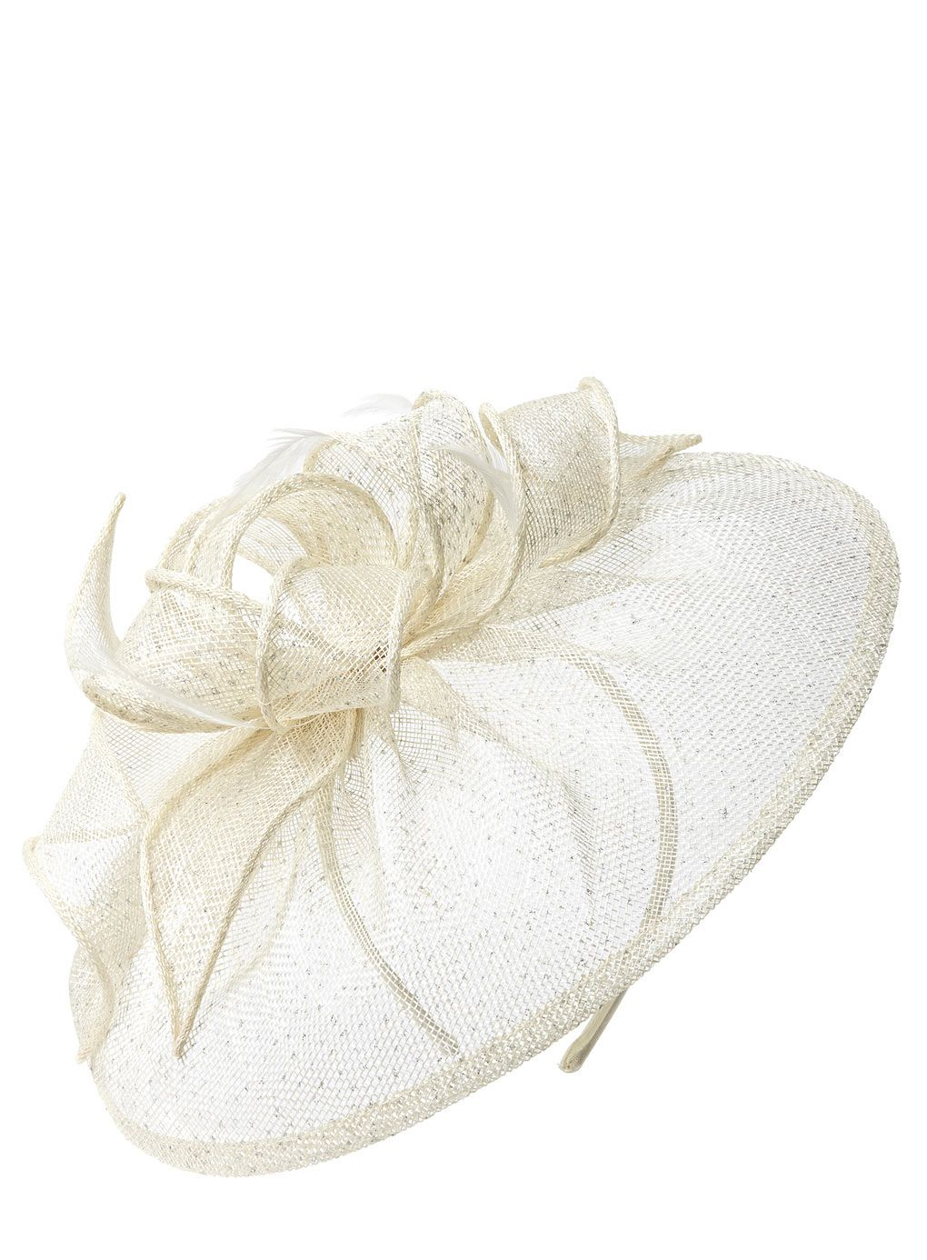 Ivory Sparkle Loop Disc Fascinator Http Www Weddingheart Co Uk