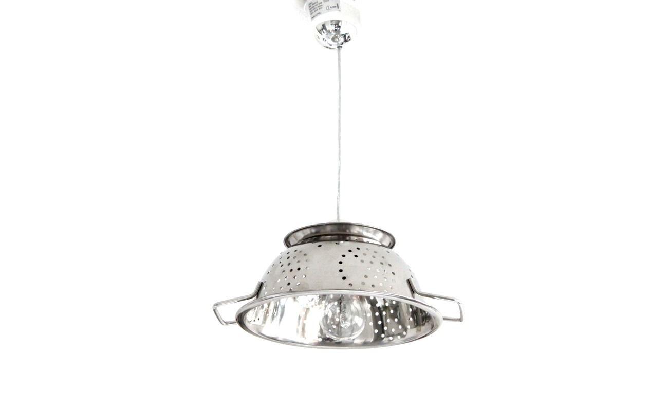 Lampe suspension passoire design en inox diam¨tre 24cm Luminaires
