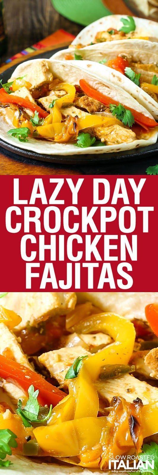 Crockpot Chicken Fajitas Are Perfect For A Fabulous No Fuss Dinner This Simple Recipe Comes Together In A Recipes Crockpot Chicken Chicken Slow Cooker Recipes