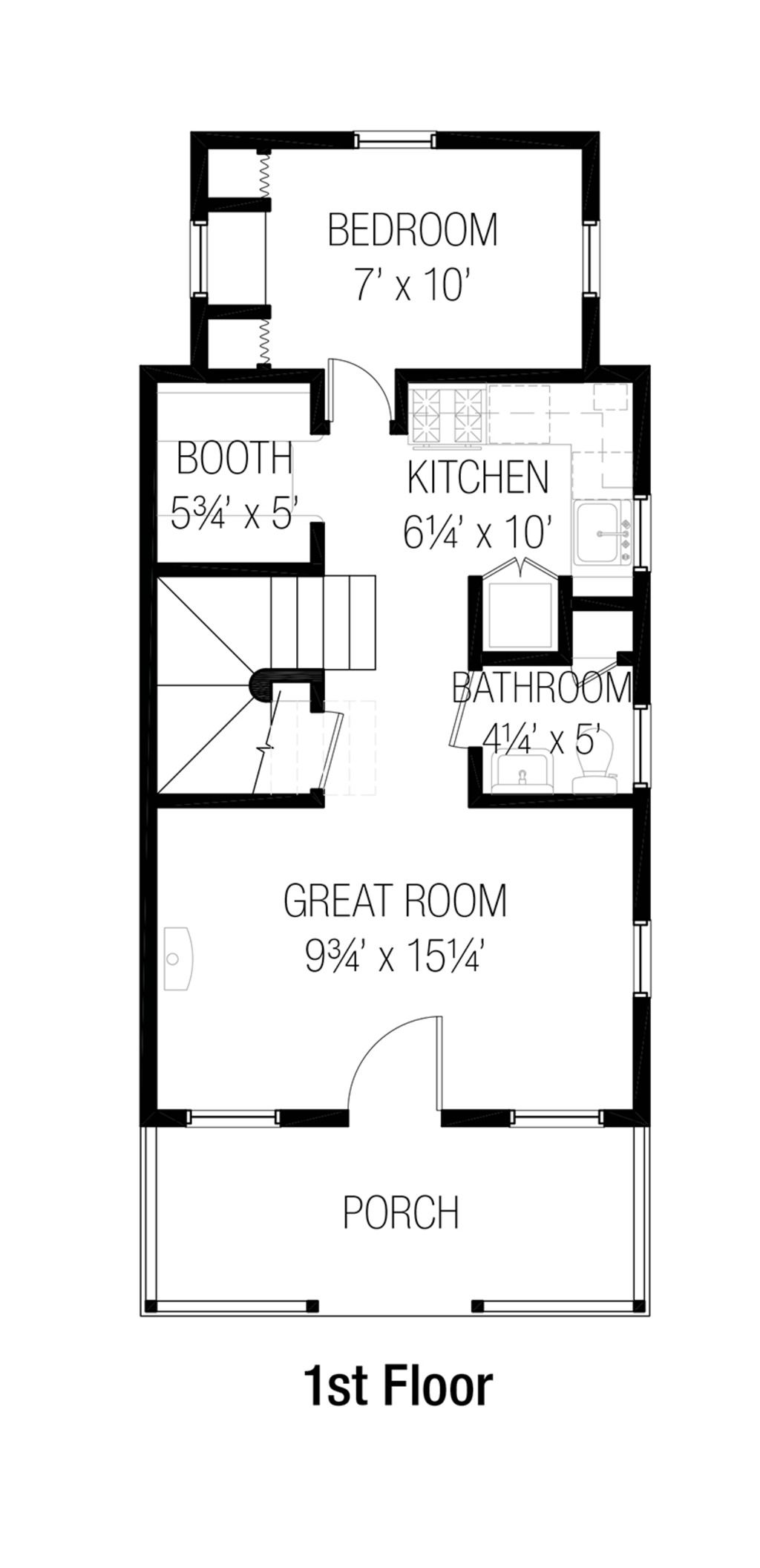 cottage style house plan 3 beds 1 50 baths 874 sq ft plan 915 2