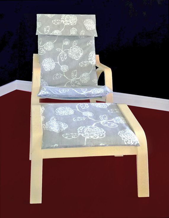 Awe Inspiring Magnolia Ikea Poang Chair Cover Flower Ikea Seat Cover Machost Co Dining Chair Design Ideas Machostcouk