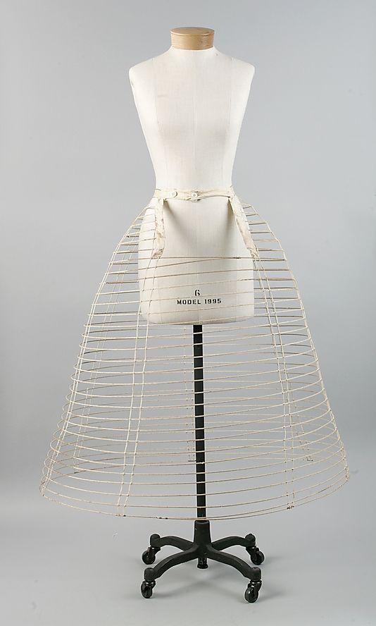 Crinoline Date: ca. 1860 Culture: American Medium: metal, cotton