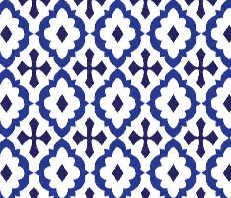 ikat - blue fabric by minimiel on Spoonflower - custom fabric