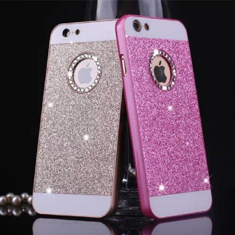 6 colori di lusso diamanti non rientrano shimmering causa della polvere per iphone 4  4 s 5 5 s 6 & 6 più 6 s e 6 s più spedizione  Libero