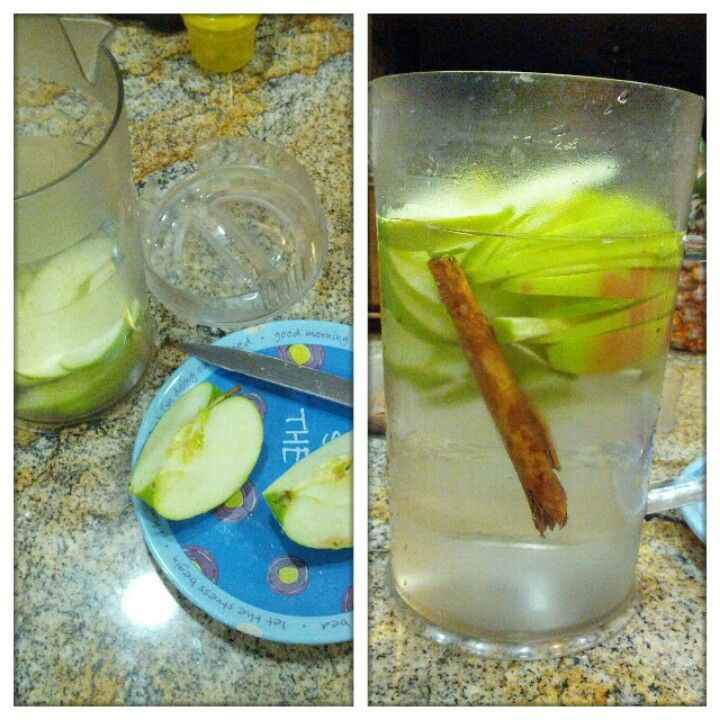 That apple cinnamon detox water.... not a fan of cinnamon but it was decent.