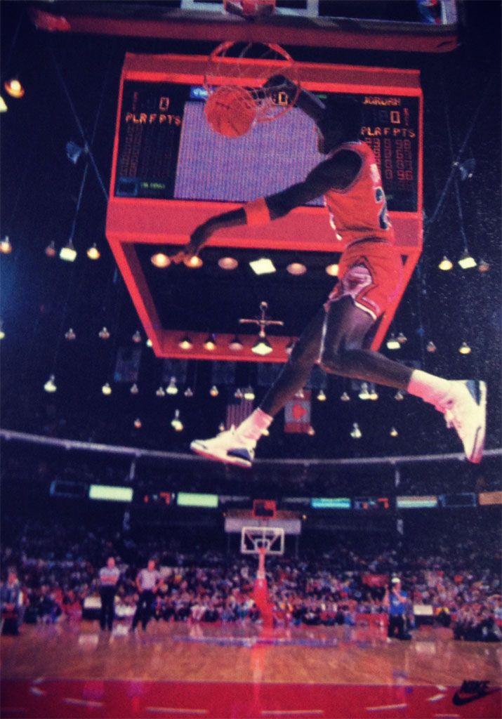 huge selection of 1a8e6 a6f81 Michael Jordan 'Windmill' Nike Air Jordan Poster (1988) | NBA ...