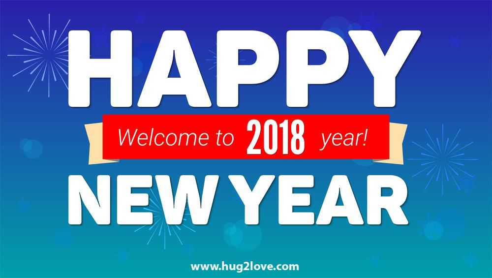 welcome 2018 happy new year wallpaper hd