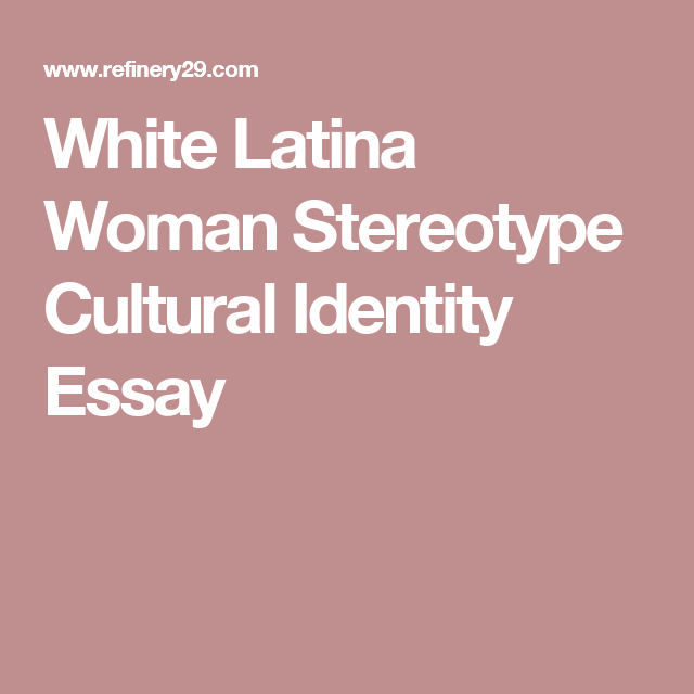 stereotype essay