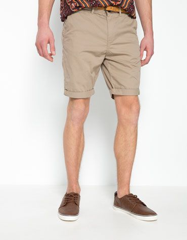 32242685e Bershka Colombia - Bermuda básica con cinturón | Men Summer Fashion ...