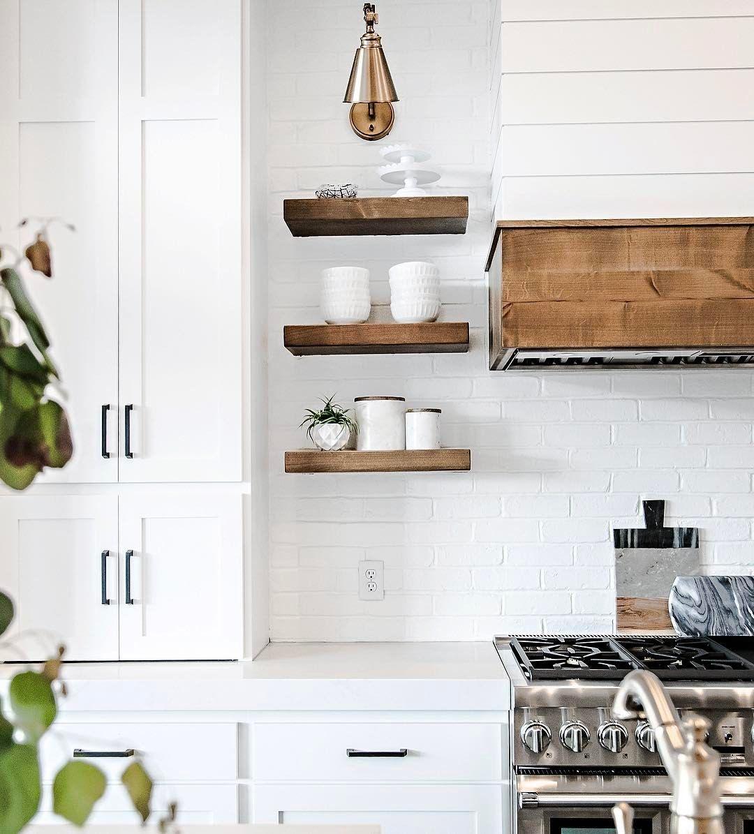 White + Rustic Modern Farmhouse Kitchen. Sita Montgomery