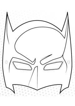 Maschera Di Batman Da Stampare E Colorare Maschere Maschere