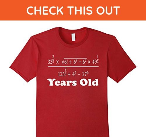 Mens 21 Years Old Algebra Equation Funny 21st Birthday Math Shirt 3XL Cranberry