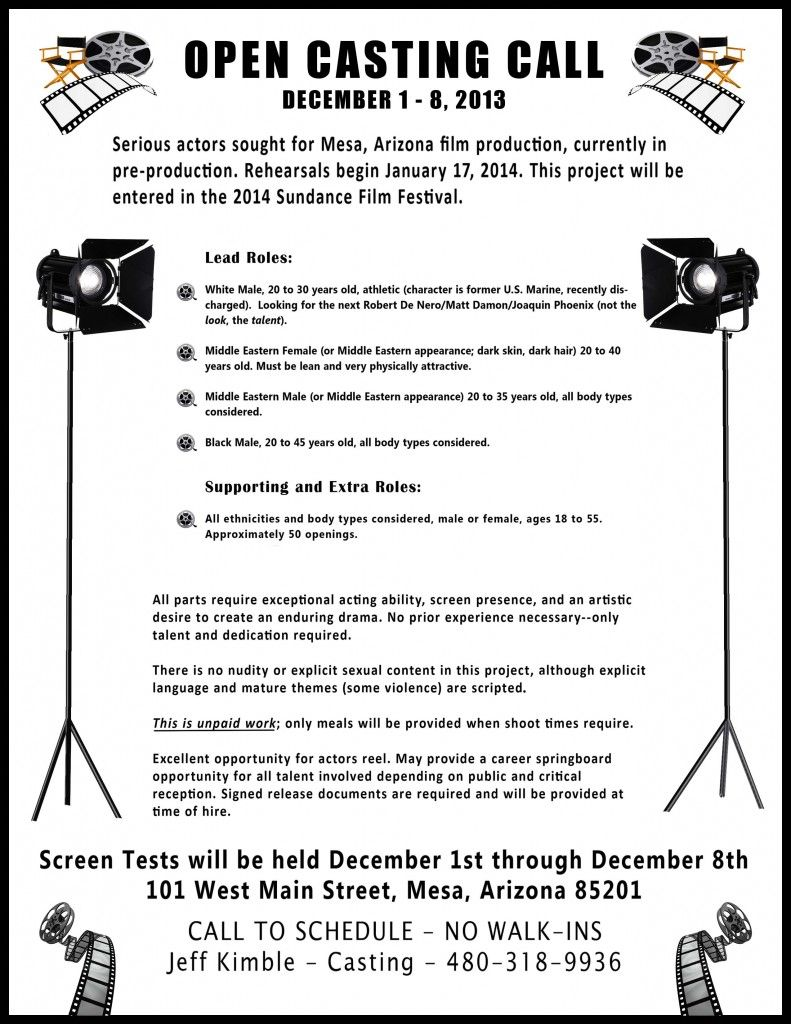 film open audition flyers templates google search audition