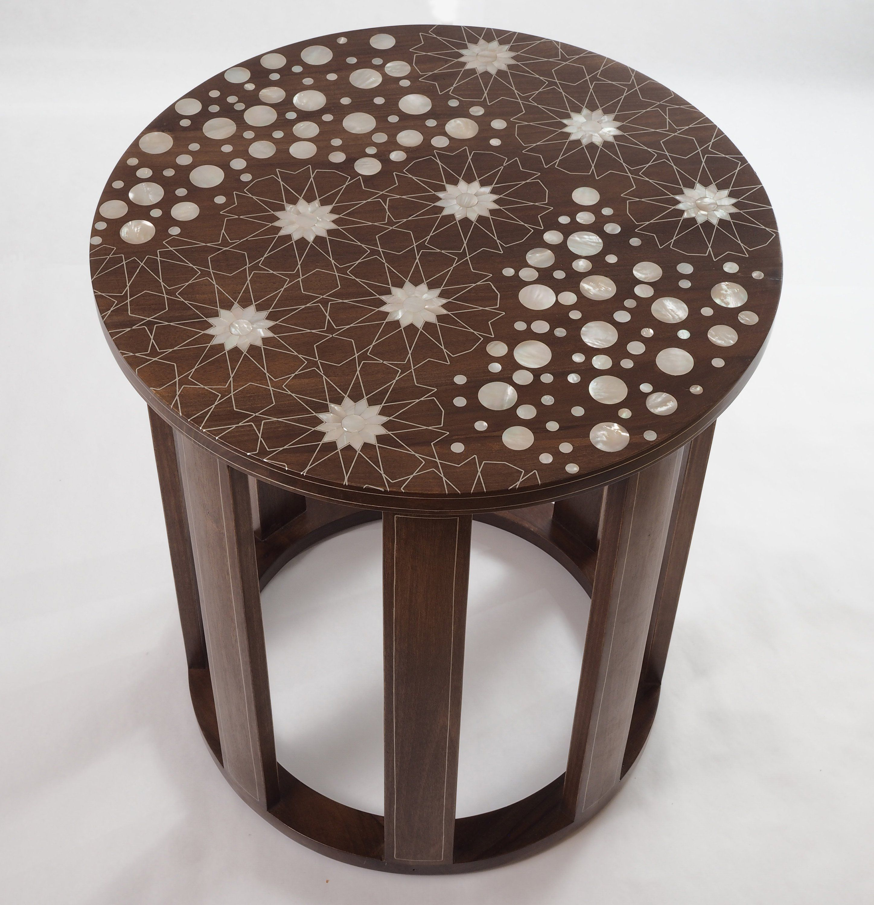 Round Coffee Table Wooden Table Mother Of Pearl Inlaid Syrian Etsy Round Ottoman Coffee Table Ottoman Coffee Table Round Metal Coffee Table [ 3000 x 2896 Pixel ]