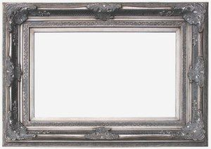 Silver Framed Mirrors: Silver Ornate Mirror 1315x1010mm