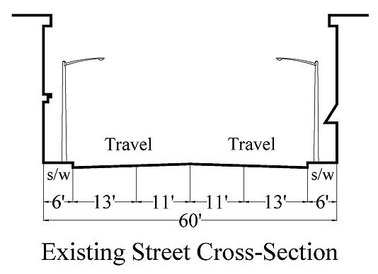 Street cross section diagram complete wiring diagrams diagram depicts existig street cross section showing the sidewalk 6 rh pinterest com heart diagram cross ccuart Image collections
