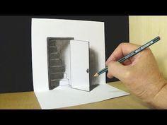 comment dessiner un trompe l 39 il 3d fissure tutoriel youtube arts pinterest comment. Black Bedroom Furniture Sets. Home Design Ideas