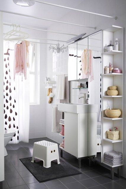 bathroom shelving ideas for small spaces future house ikea rh pinterest com small bathroom decorating ideas ikea Extra Small Bathroom Design Ideas