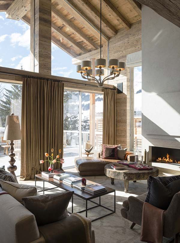 Fabulous Ski Chalet Offers An Idyllic Getaway In The Swiss Alps House Interior Chalet Interior Home Interior Design