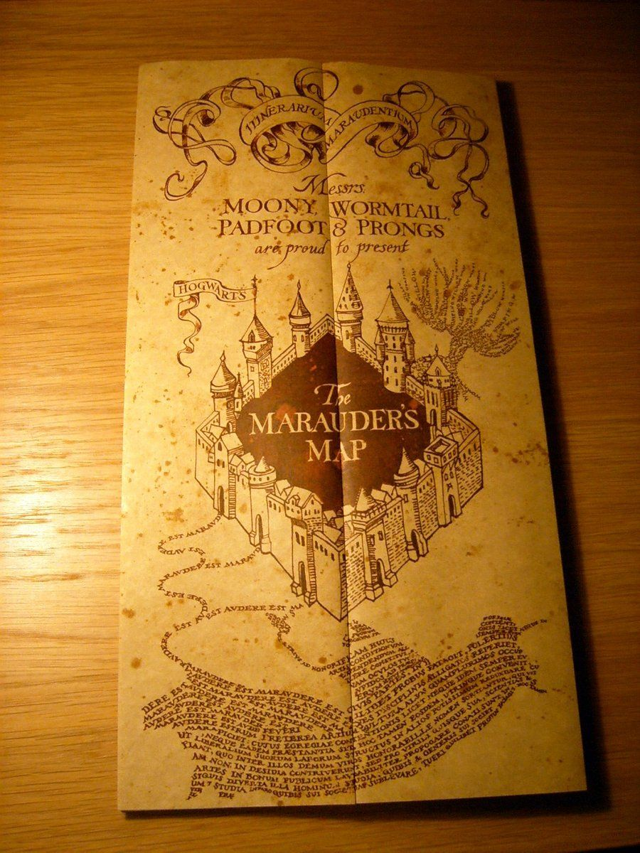 The Marauders Map From Harry Potter And Prisoner Of