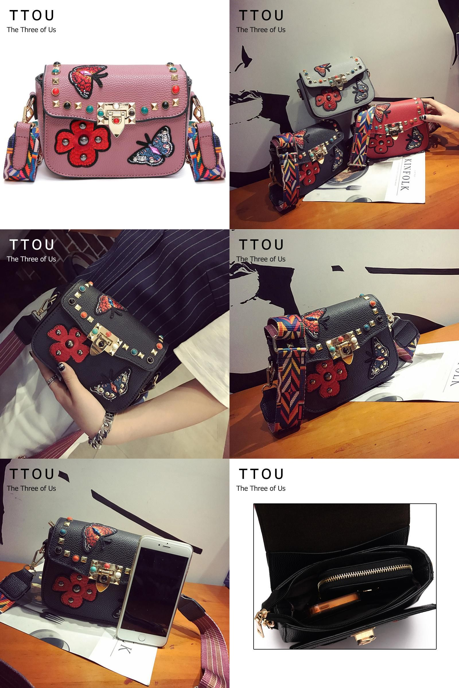a7862f2a2722 Visit to Buy] TTOU NEW Arrival Floral Designer Women Shoulder Bag PU ...