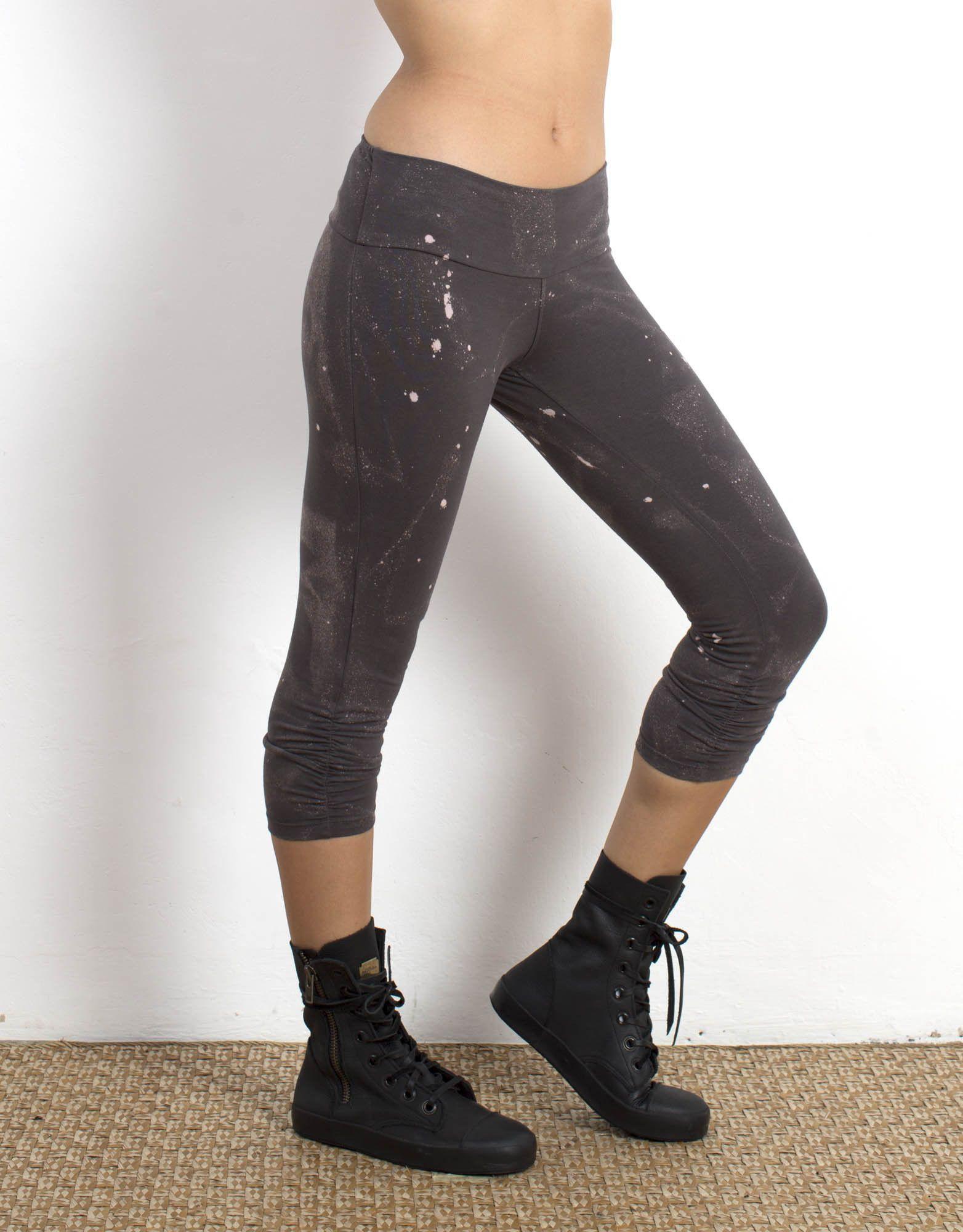 Charcoal Splatter Leggings Organic Cotton