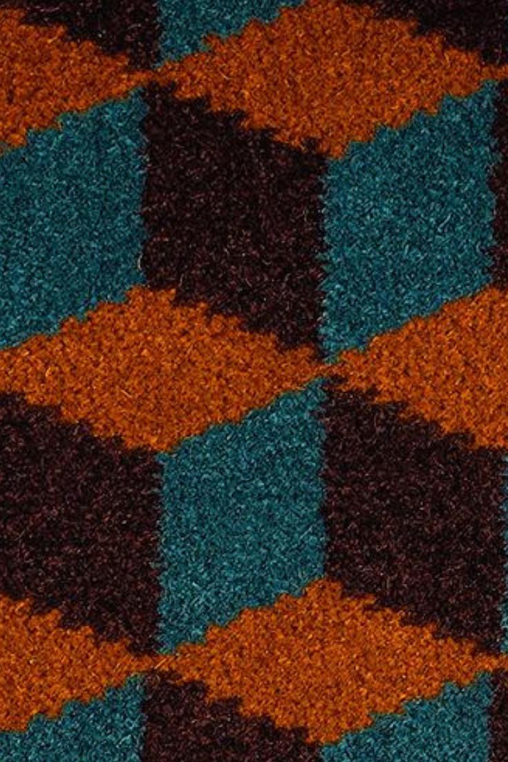 Teal hallway ideas  Quirky B Ben Pentreath Cube Talman Carpet  Inspiration  Hallway