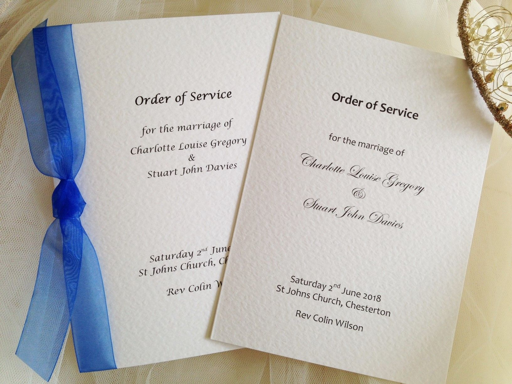 order of service books for weddings a5 with hammered paper inserts