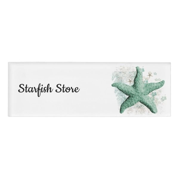 Timeless Starfish Name Tag Custom Nametags Teacher Tutor Business Officesupplies