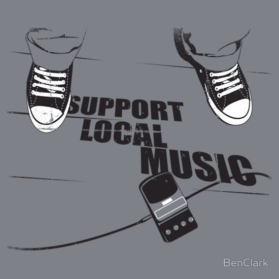 Workout Bands Music: 'Support Local Music' Kids Clothes By BenClark