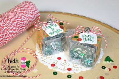 beths beauties trendy twine mini christmas candy boxes using berry trendytwine anniespaperboutique - Christmas Candy Boxes