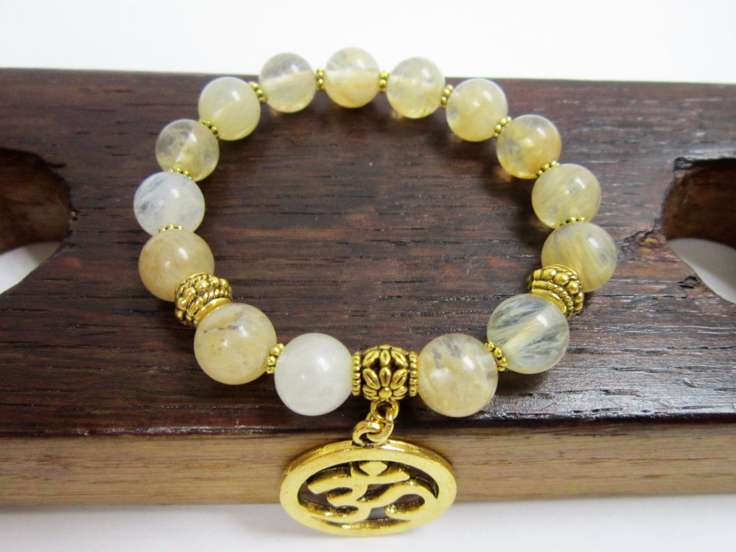 citrine bracelet double by barbara lemon products cieslicki