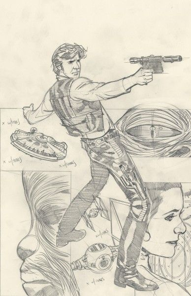 cover art for the sketch cover variant of rebel heist 1 by adam hughes