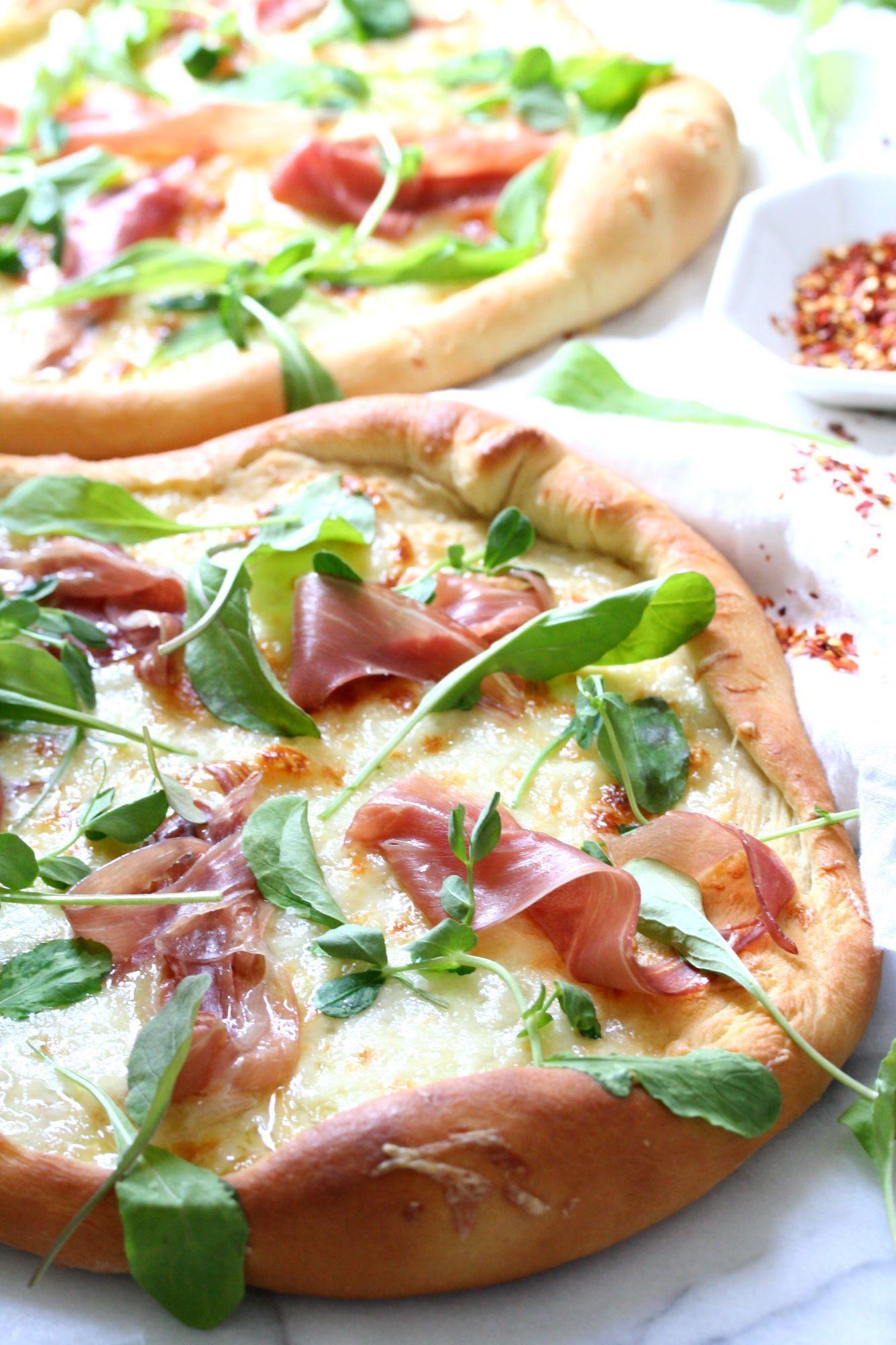 Homemade Prosciutto And Arugula Pizza Recipe Dash Of Savory Arugula Pizza Recipes Homemade Pizza Recipes