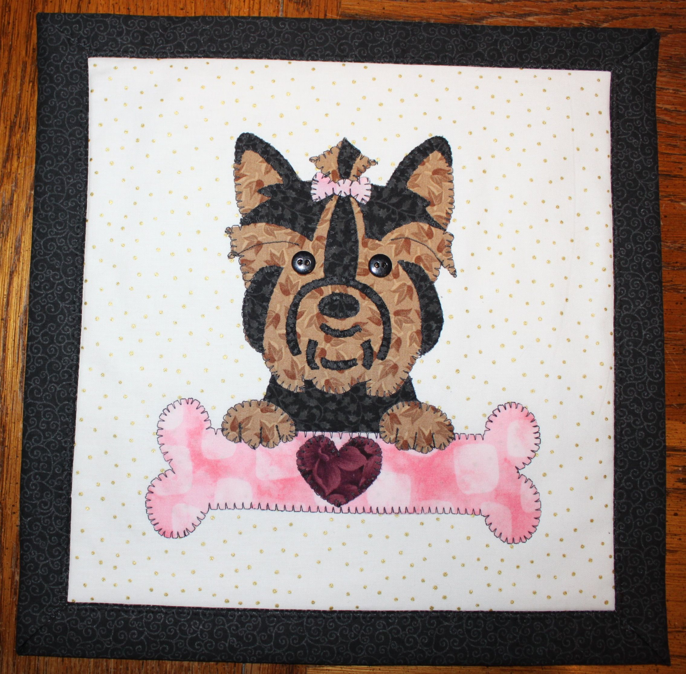 Sweet Yorkie wall hanging
