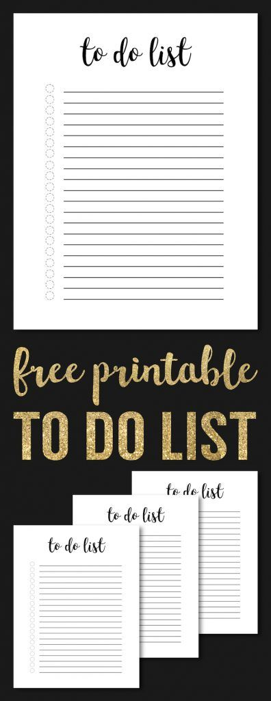 Free Printable To Do List Template Pinterest Free printable