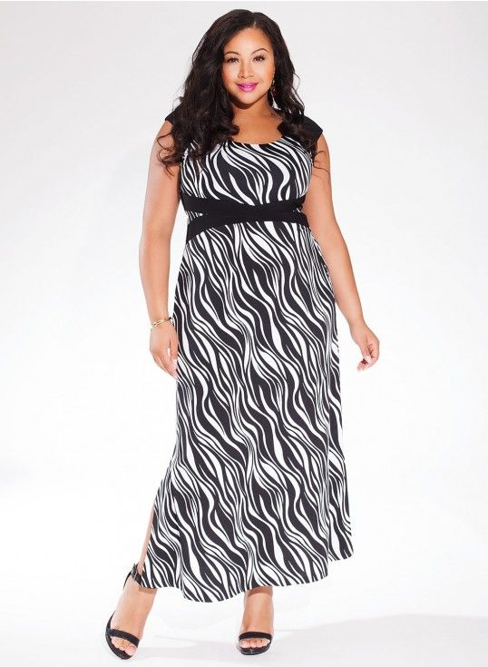 Maldives Maxi Dress in Black White