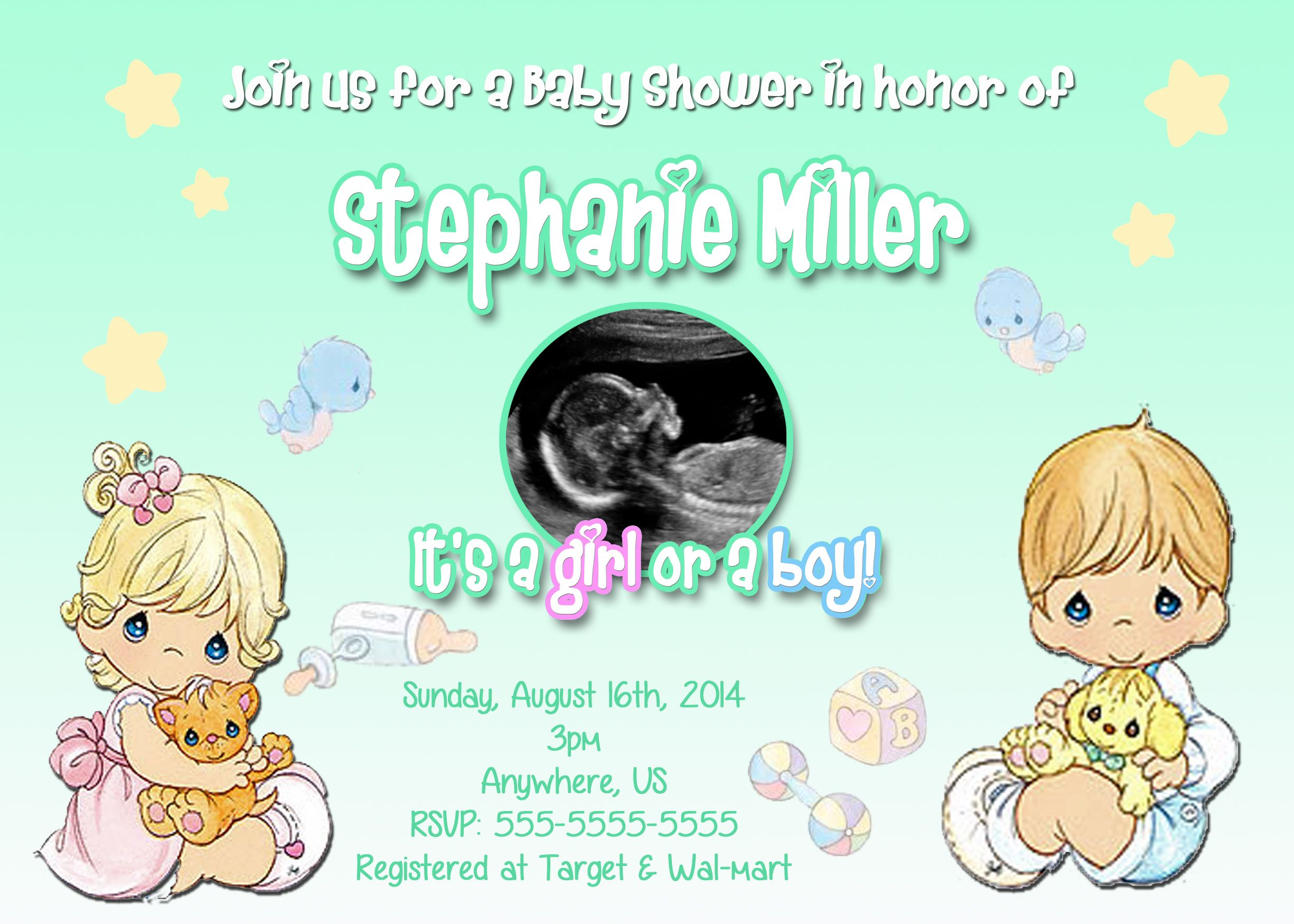 Precious Moments Baby Shower Invitations $8 99