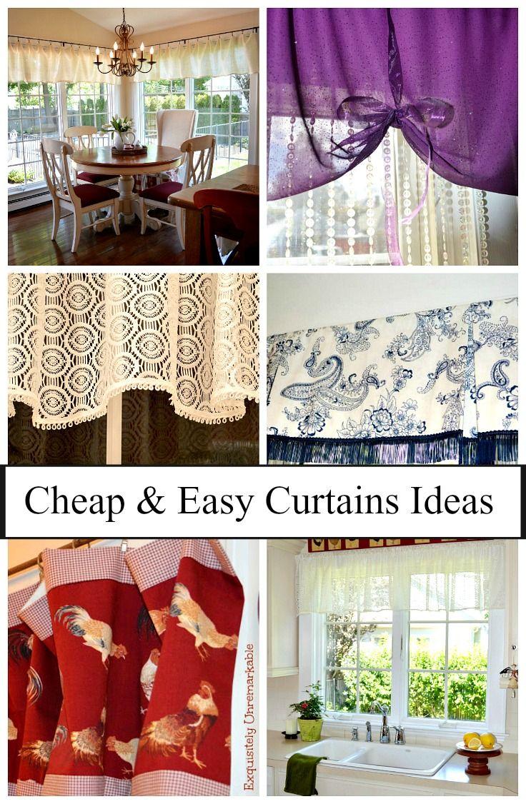 Cheap And Easy Curtain Ideas Simple Curtains Diy Wall Decor
