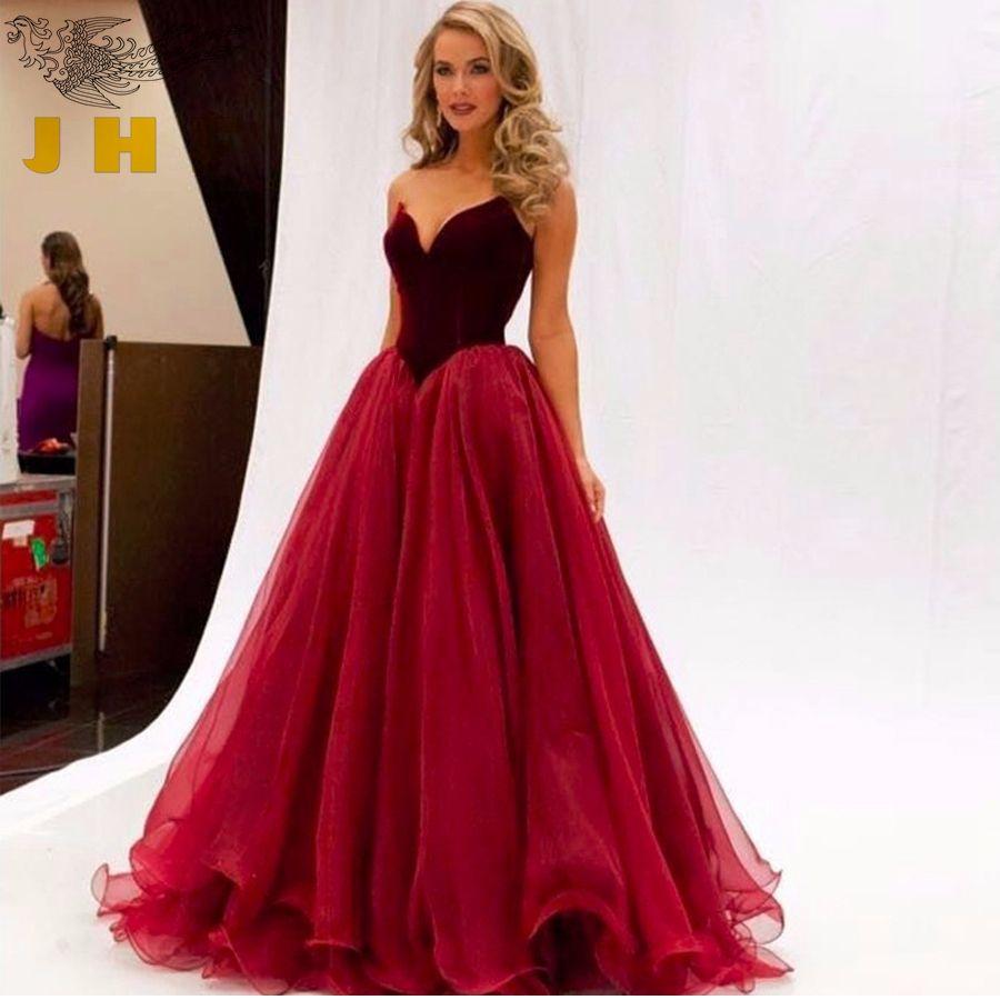 Click to buy ucuc vestido formatura new sweetheart velvet