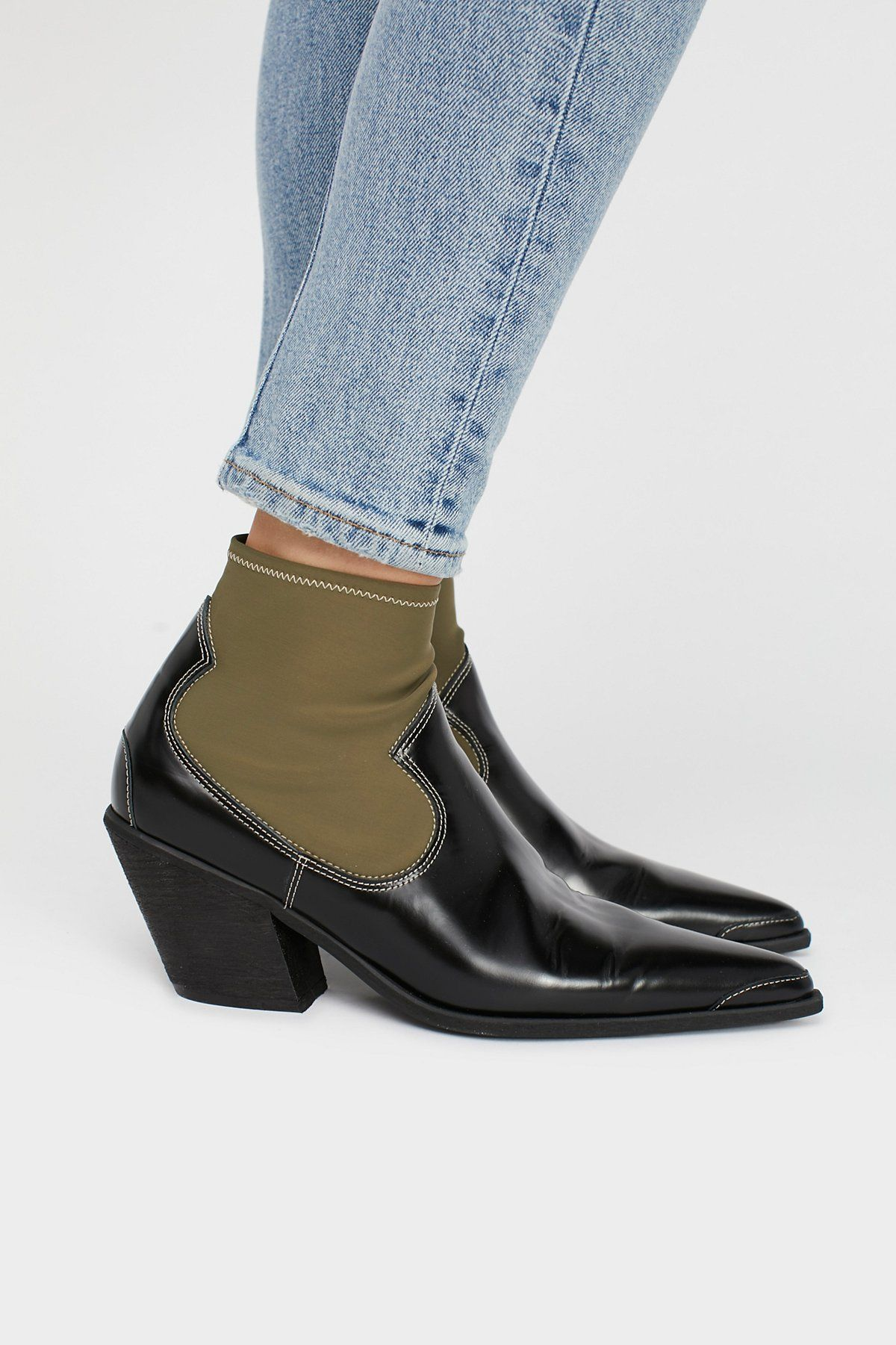 ad895b4d47f FP Collection Black Box   Green Jackson West Boot at Free People Clothing  Boutique