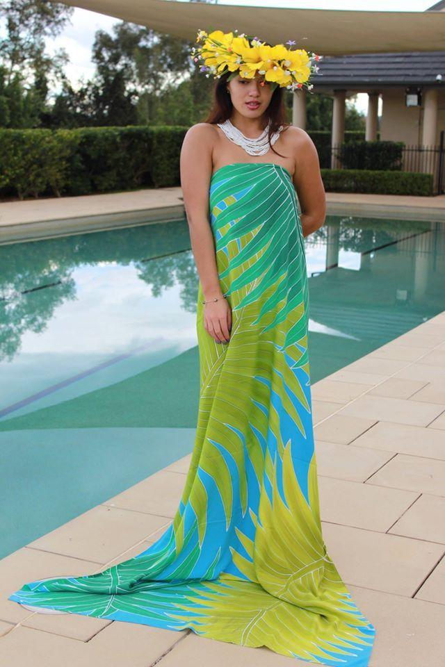 7483750eadd86 Hawaiian dress Hawaiian Outfits, Hawaiian Fashion, Hawaiian Dresses, Samoan  Designs, Ethnic Chic
