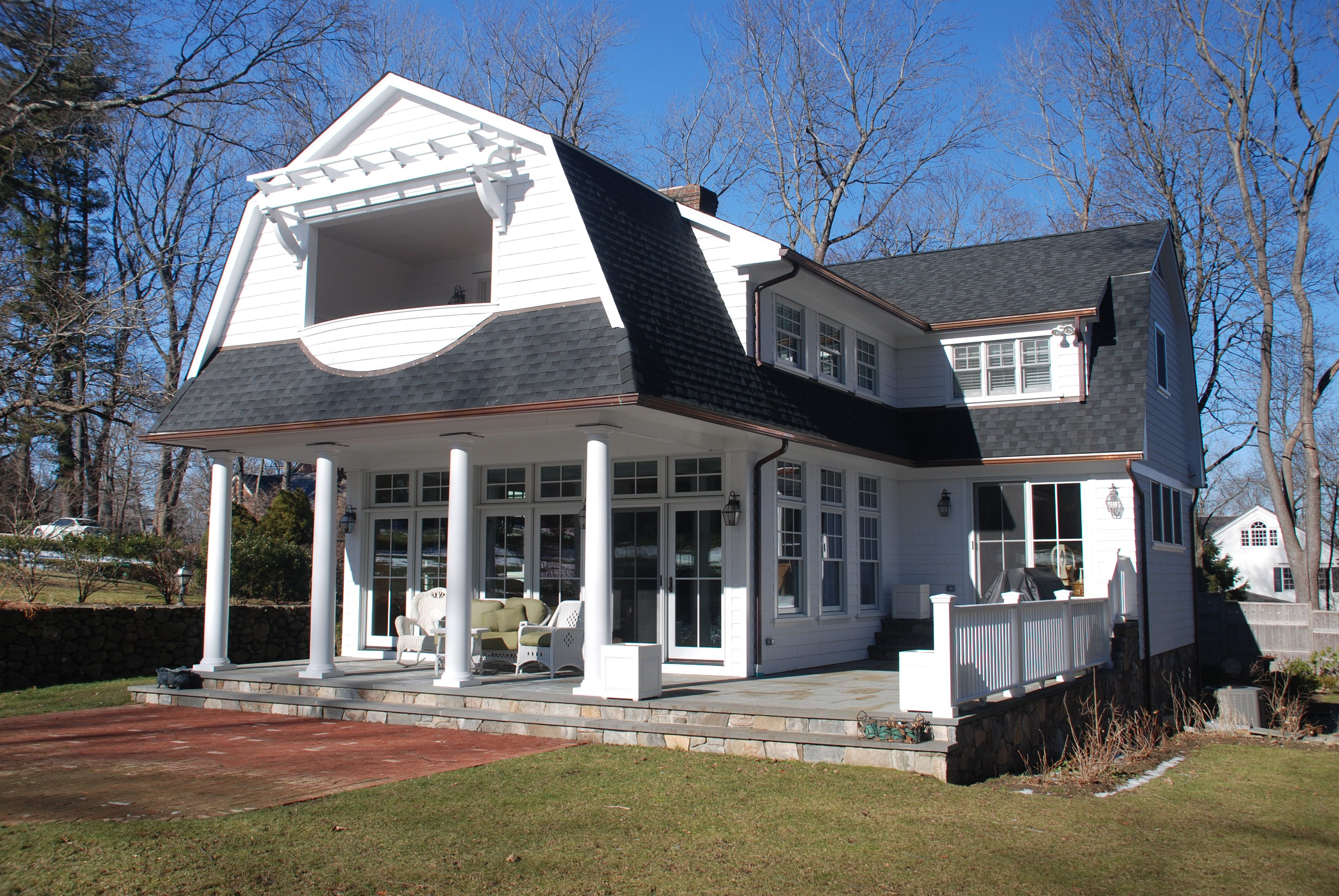 Colonial addition alteration in ridgefield ct demotte for Colonial home additions