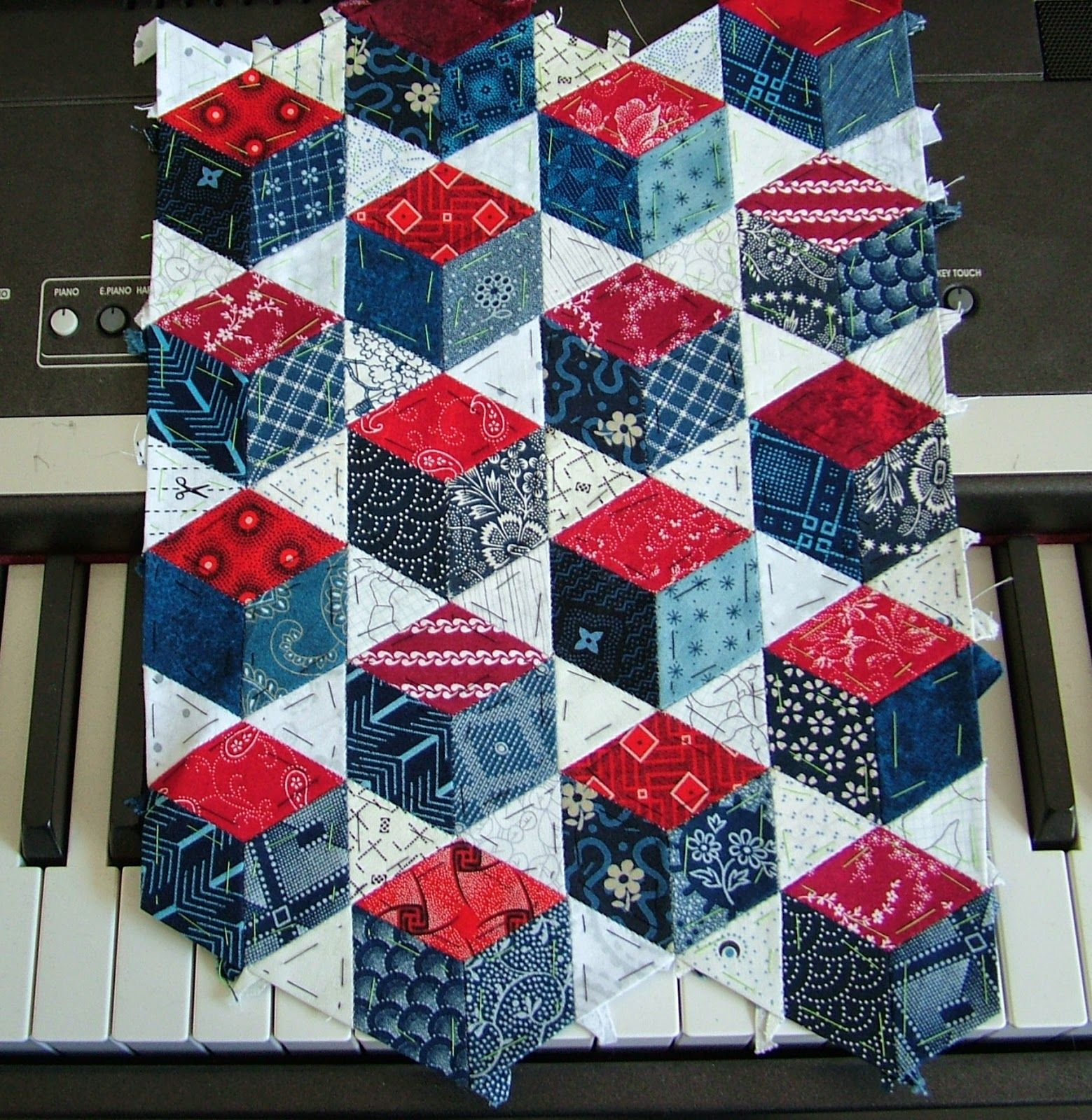 Blue Moth Week 10 EPP back to tradition Baby blocks