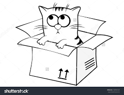 Image Result For Clipart Black And White Box Cat Clipart Black And White Clip Art Black And White