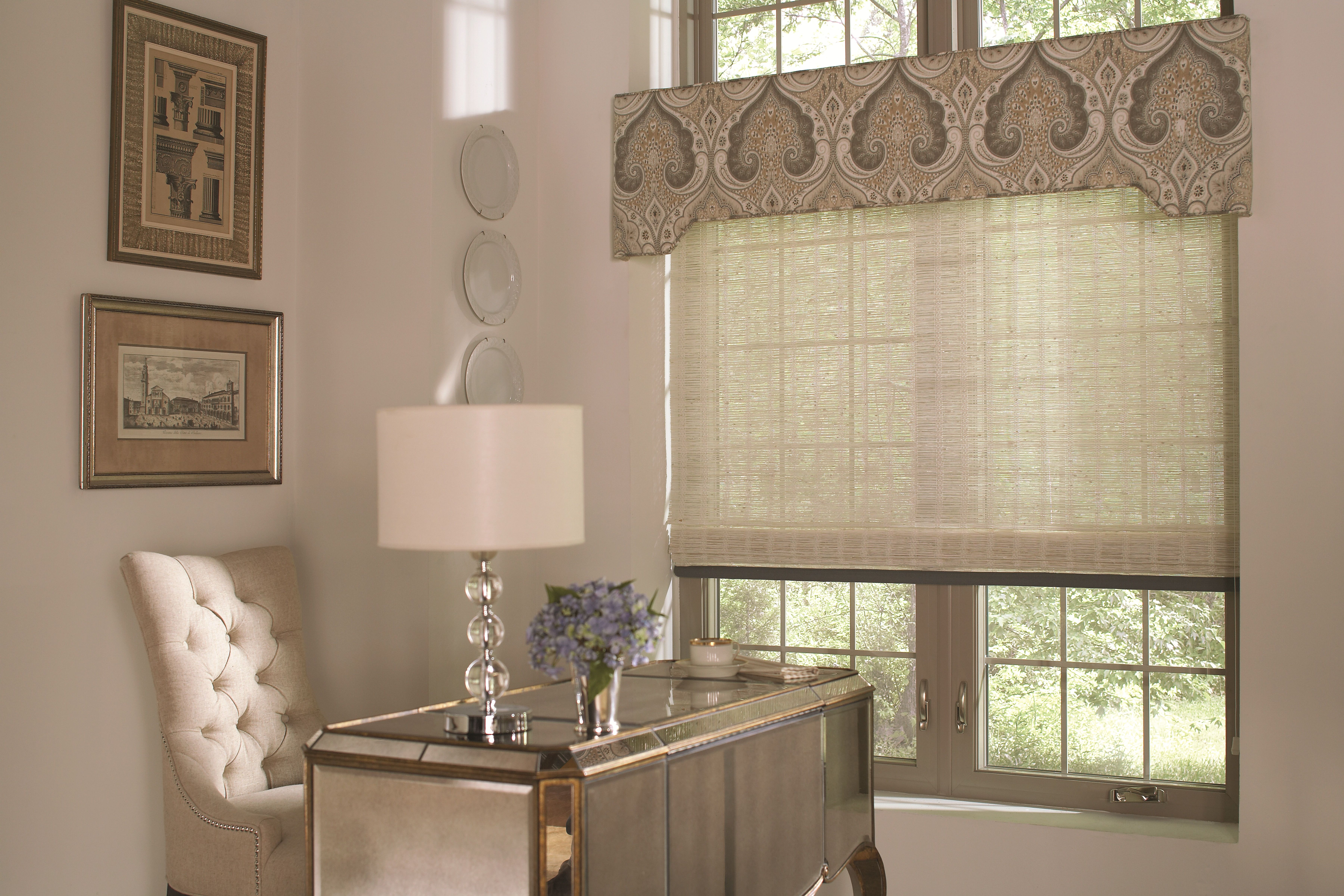 Office window coverings  shades and drapes  window treatment  pinterest  cornice budget