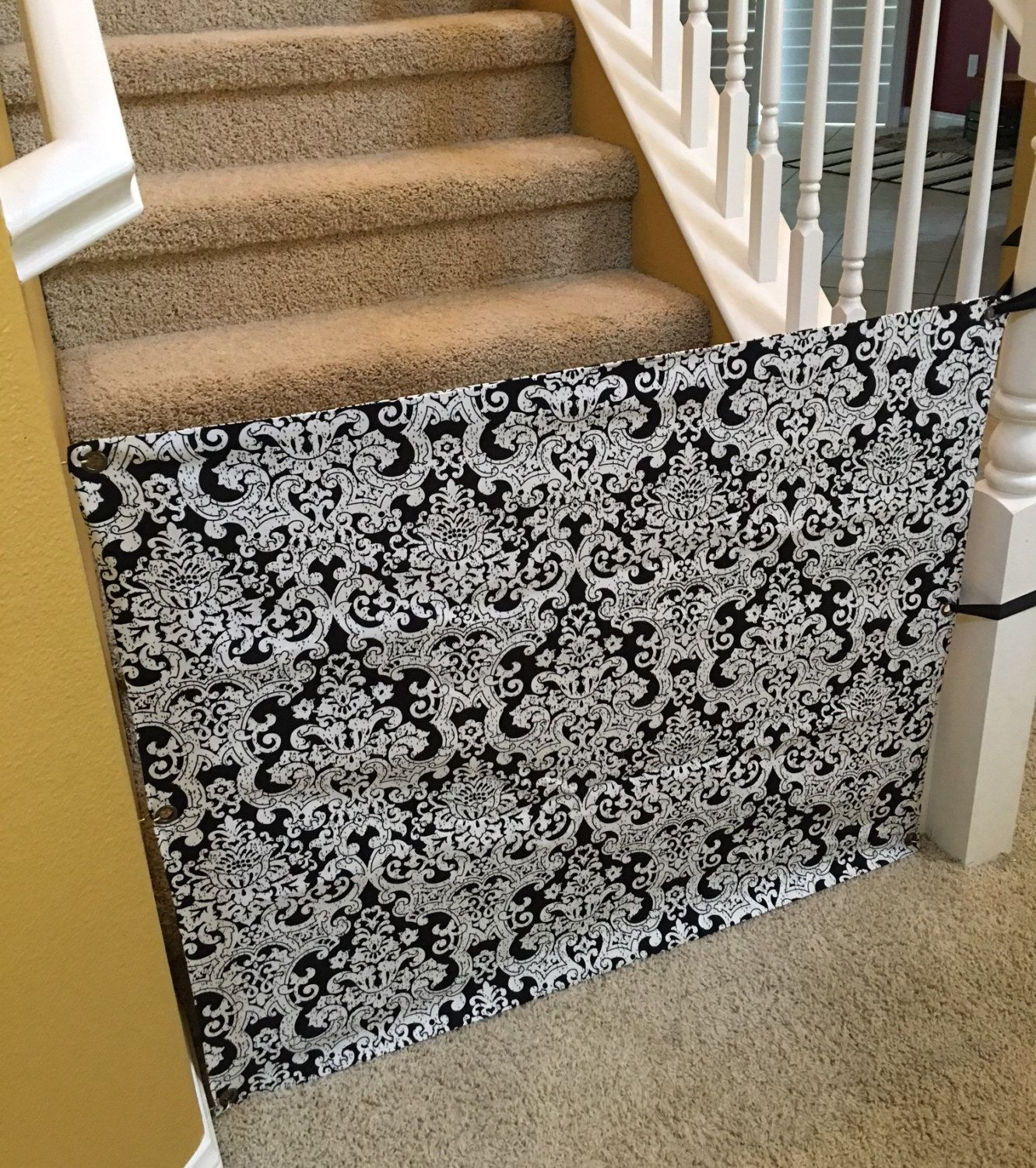 Custom Fabric Baby Gate for Stairs