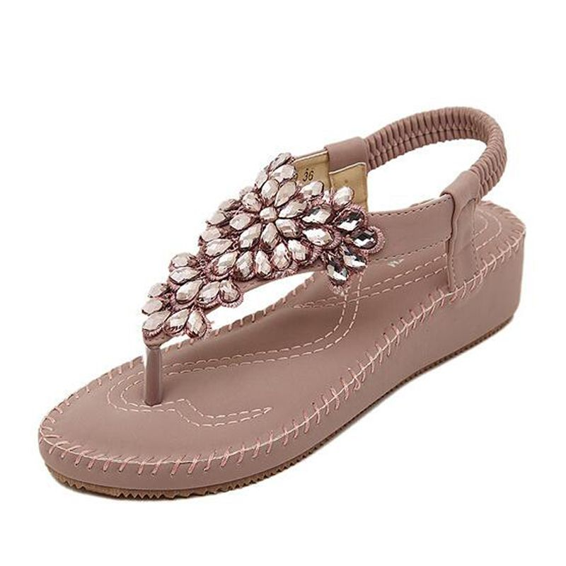 Women Shoes Sandals Comfort Summer Classic Rhinestone 2016 Fashion High Quality Flats WX4210308-in Women's Sandals from Shoes on Aliexpress.com | Alibaba Group