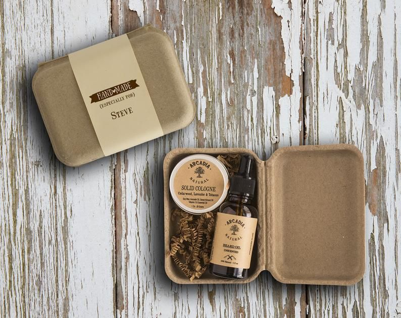 Personalized mens gift box, Selfcare grooming Kit